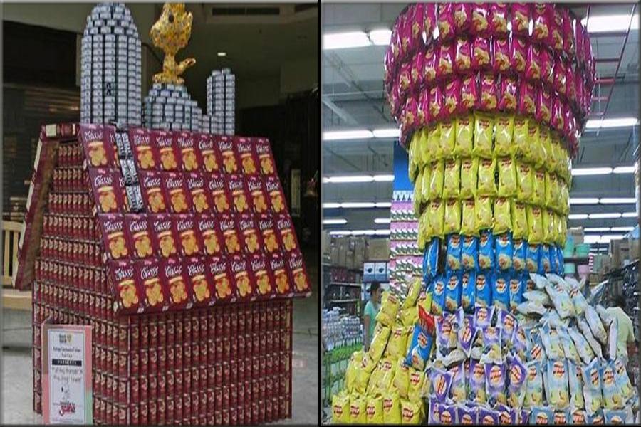 """""""超市真是太有才了!"""":盘点商家的创意摆设图片"""