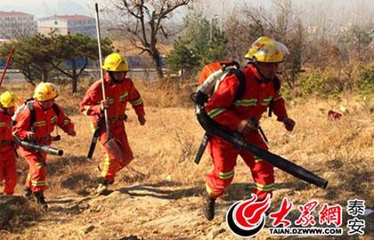 本网记者跟踪图文记录:泰山防火员的一天