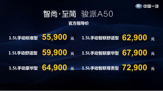 骏派A50成都站越级上市 拉开天津一汽2018转型升级大幕