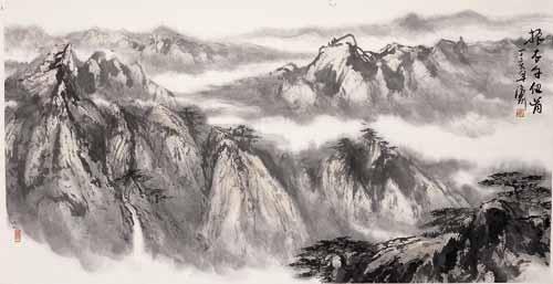 段济渝山水国画作品赏析