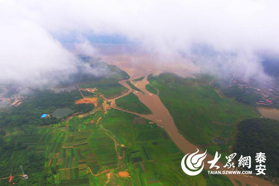航拍:暴雨过后的黄前水库